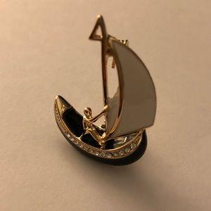 Sail Boat Brooch